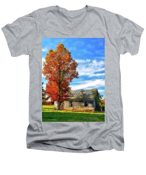Past Its Prime Vintage Autumn Barn Ap Men's V-Neck T-Shirt