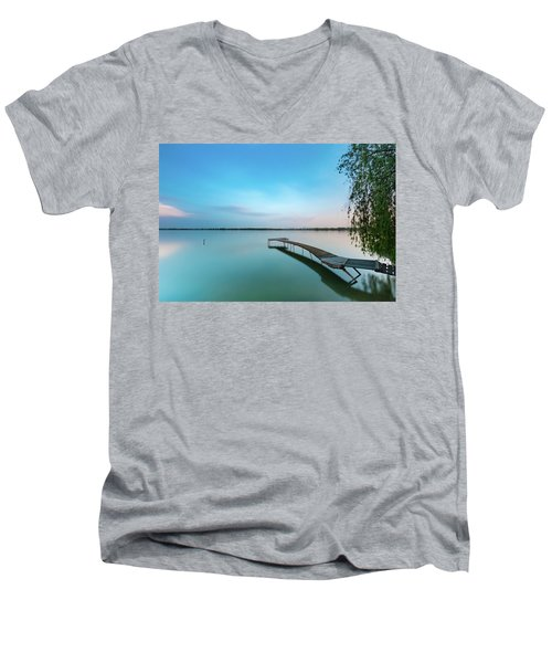 Peacefull Waters Men's V-Neck T-Shirt