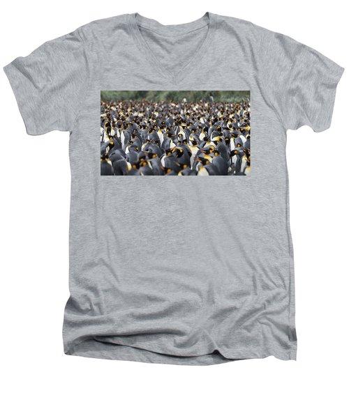 Penguinscape Men's V-Neck T-Shirt