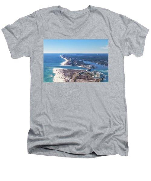 Perdido Pass Bridge Men's V-Neck T-Shirt