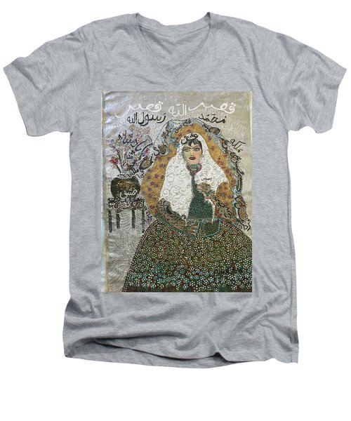 Persian Women Quajar Men's V-Neck T-Shirt
