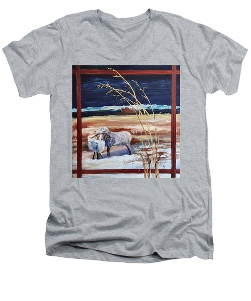 Phil And Alice Navajo Sheep    38 Men's V-Neck T-Shirt