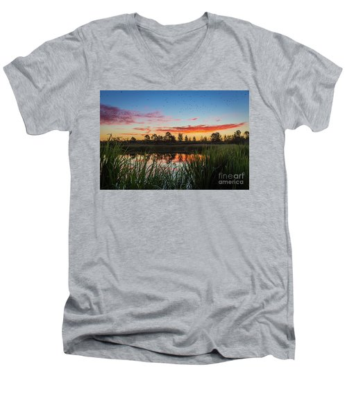 Phinizy Swamp Sunrise - Augusta Ga Men's V-Neck T-Shirt