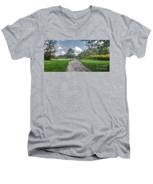 Pickerington Ponds Walkway Men's V-Neck T-Shirt