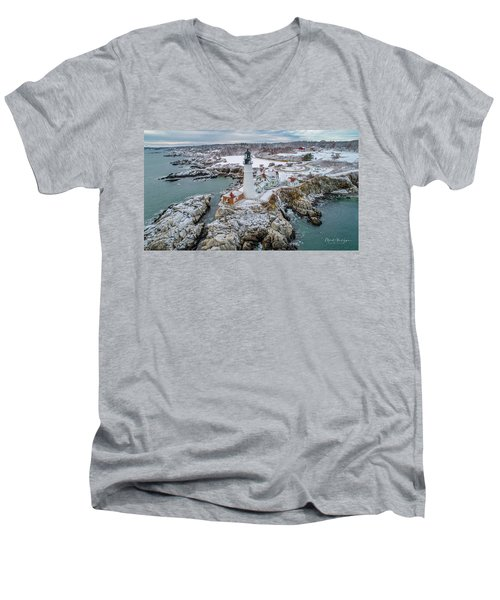 Picturesque Maine  Men's V-Neck T-Shirt