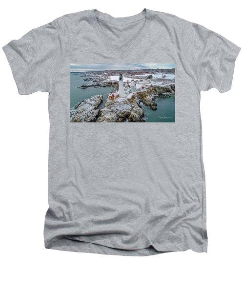 Picturesque Maine  Men's V-Neck T-Shirt
