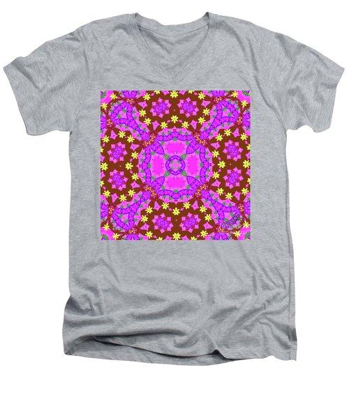 Pink 2 Men's V-Neck T-Shirt