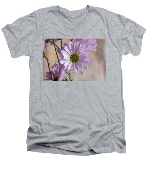 Pink Daisies-5 Men's V-Neck T-Shirt