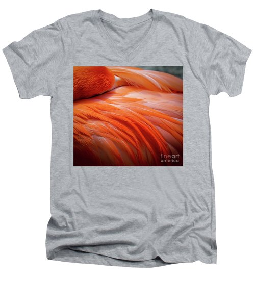 Pink Feathers Men's V-Neck T-Shirt