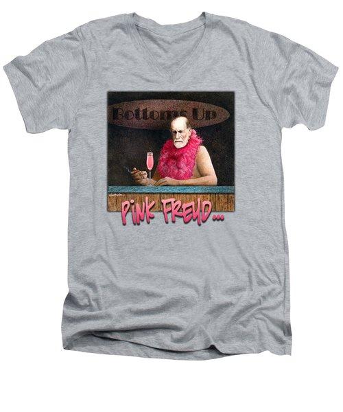 Pink Freud... Men's V-Neck T-Shirt