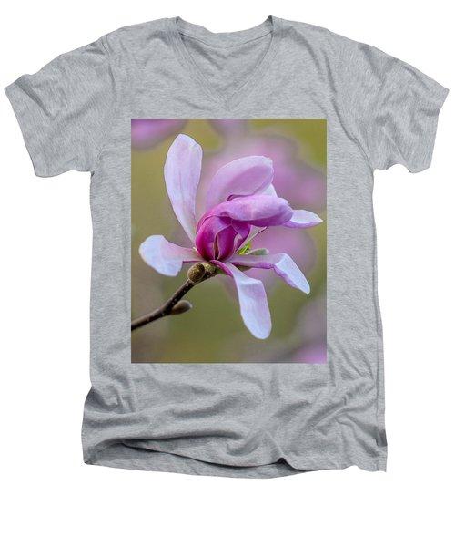 Pink Magnolia Men's V-Neck T-Shirt