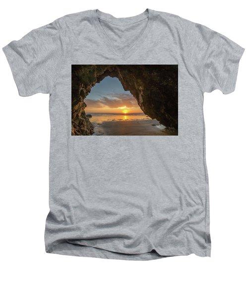 Pismo Caves Sunset Men's V-Neck T-Shirt