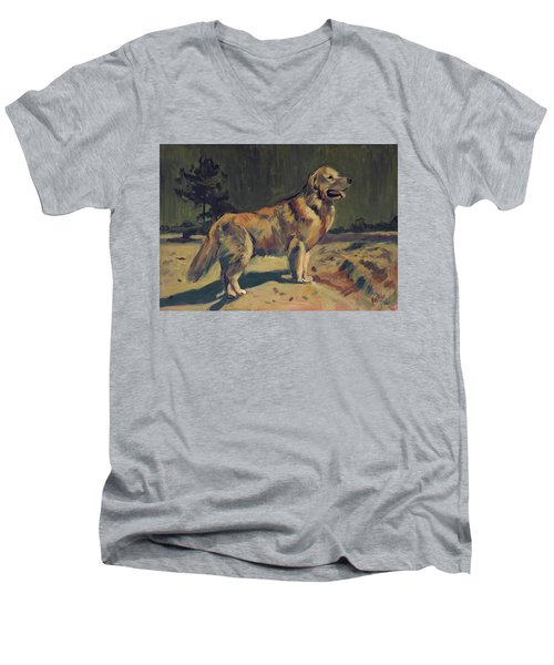 Pixel In The Dunes Of Loon Op Zand Men's V-Neck T-Shirt
