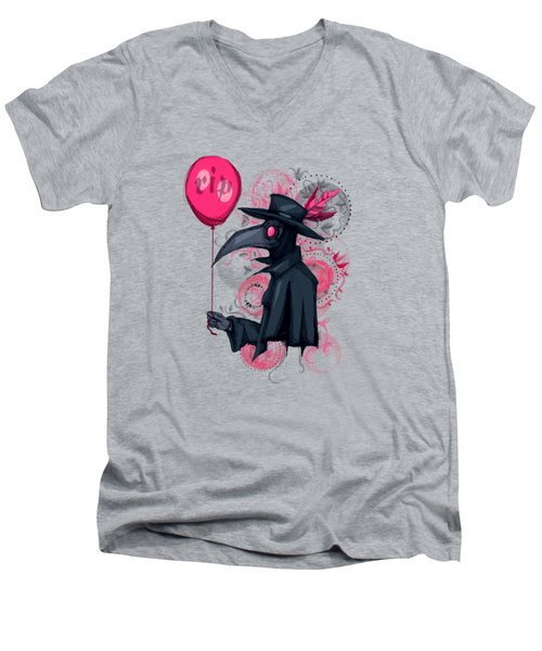 Plague Doctor Balloon Men's V-Neck T-Shirt