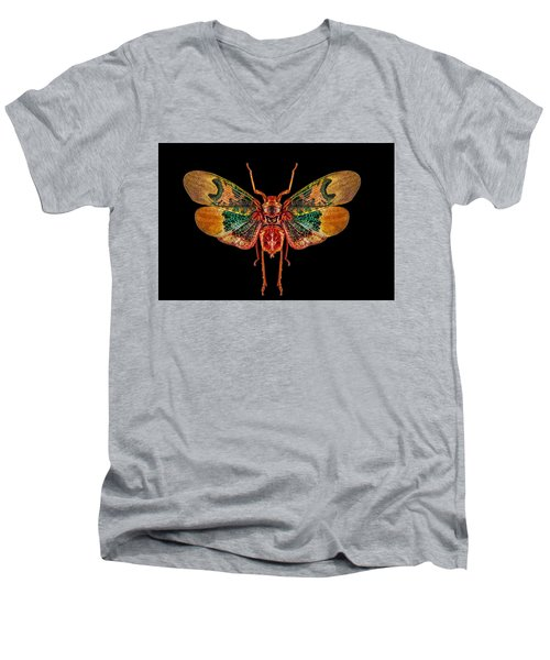 Planthopper Lanternfly Men's V-Neck T-Shirt