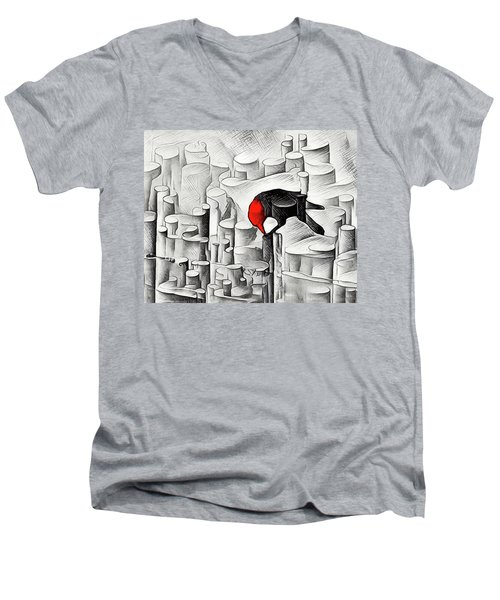 Poe-etry Men's V-Neck T-Shirt