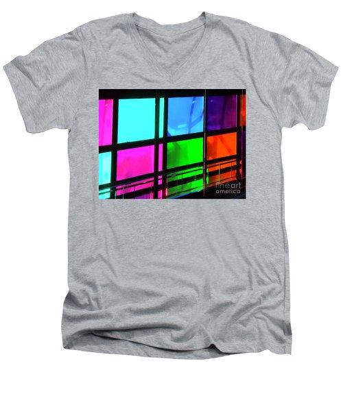 Polychrome Passageway Men's V-Neck T-Shirt