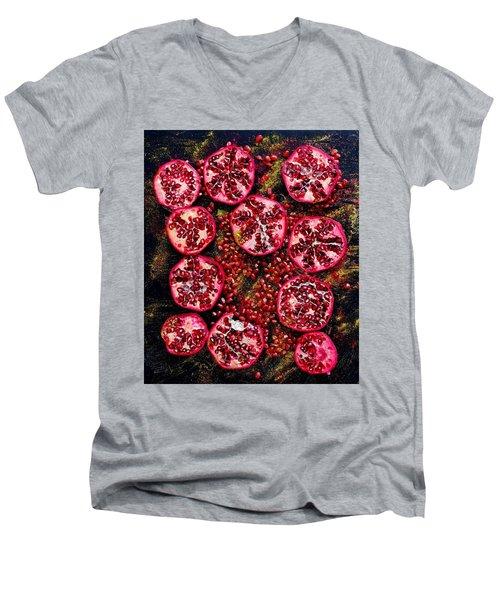 Pomegranate New Year Men's V-Neck T-Shirt