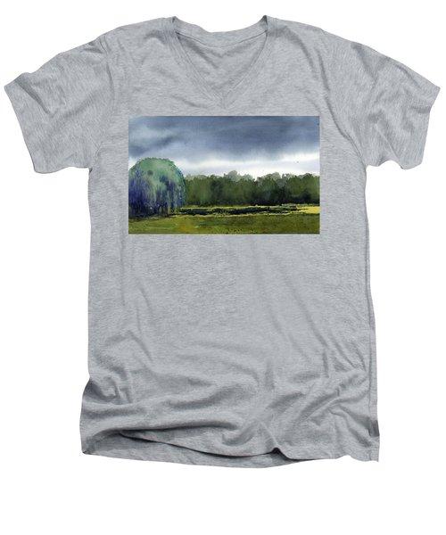 Pond At Taliesin Men's V-Neck T-Shirt