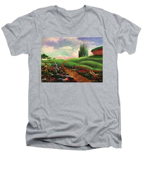 Poppies Will Make Them Sleep Men's V-Neck T-Shirt