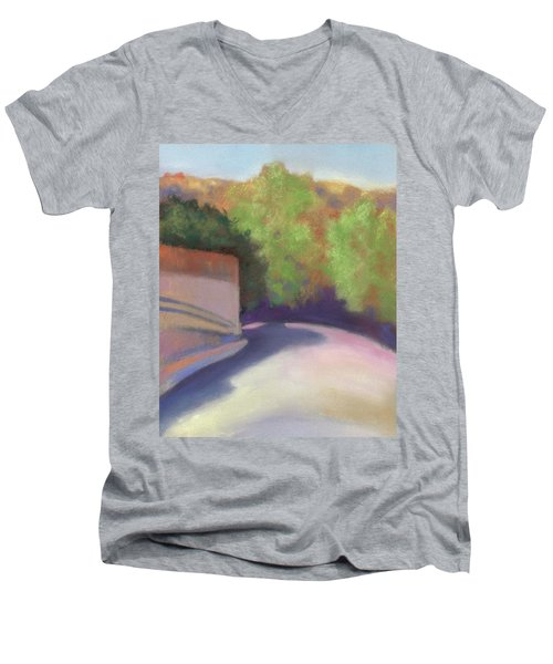 Port Costa Street In Bay Area Men's V-Neck T-Shirt