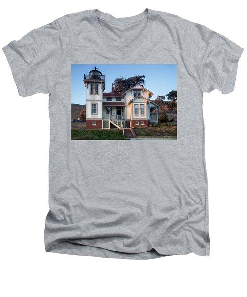 Port San Luis Lighthouse Men's V-Neck T-Shirt
