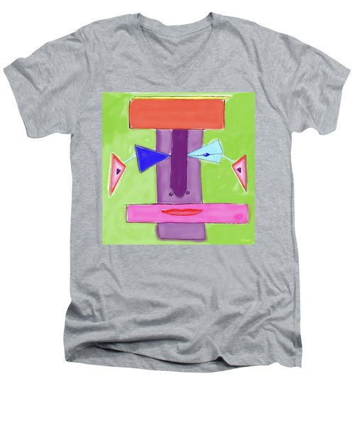 Portrait Of Mom Men's V-Neck T-Shirt