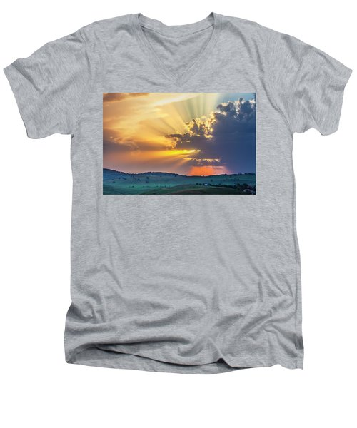Powerful Sunbeams Men's V-Neck T-Shirt