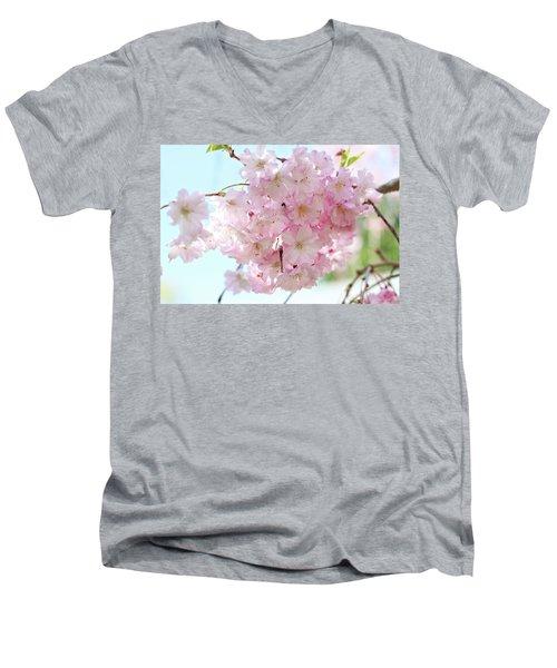 Pretty Pink Blossoms Men's V-Neck T-Shirt