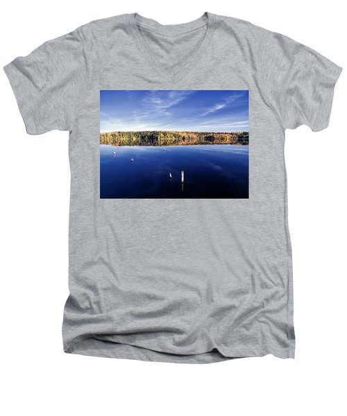 Men's V-Neck T-Shirt featuring the photograph Pricket Lake 10181702 by Rick Veldman