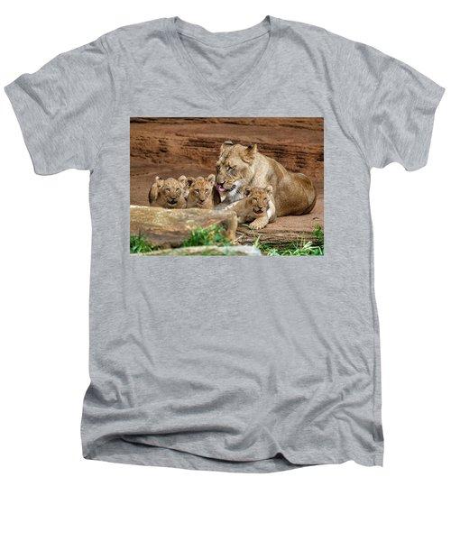 Pride Of The Pride 6114 Men's V-Neck T-Shirt
