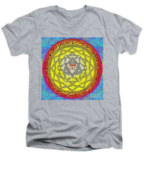 Psalm 37 Men's V-Neck T-Shirt