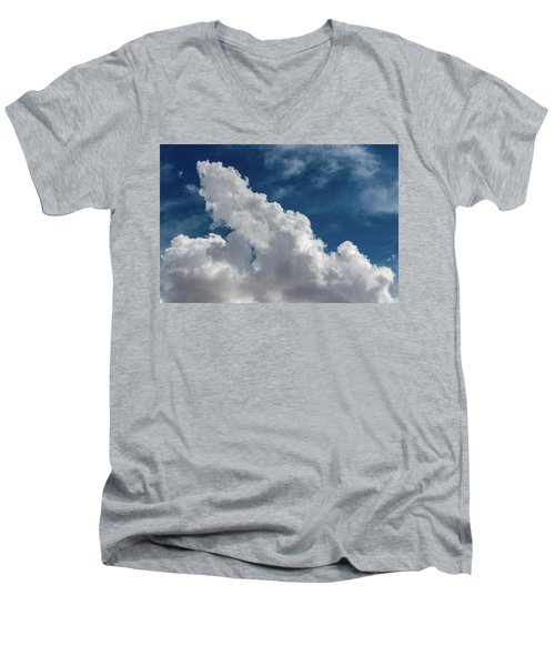 Puffy White Clouds Men's V-Neck T-Shirt