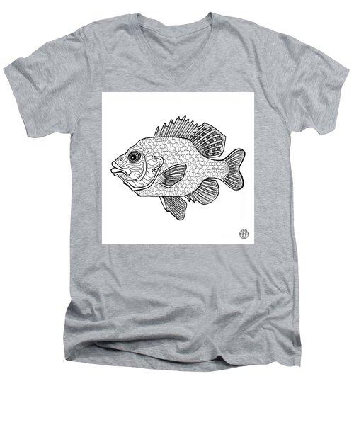 Pumpkinseed Fish Men's V-Neck T-Shirt
