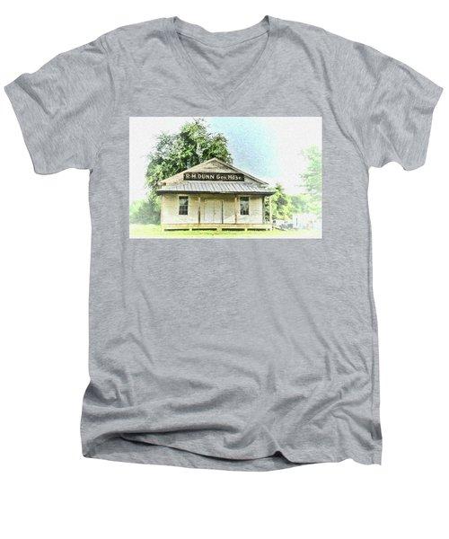 Quiet Reminder Of Yesterday In Goochland, County Virginia Men's V-Neck T-Shirt