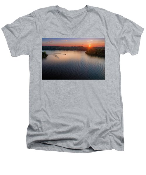 Racing The Sun Men's V-Neck T-Shirt