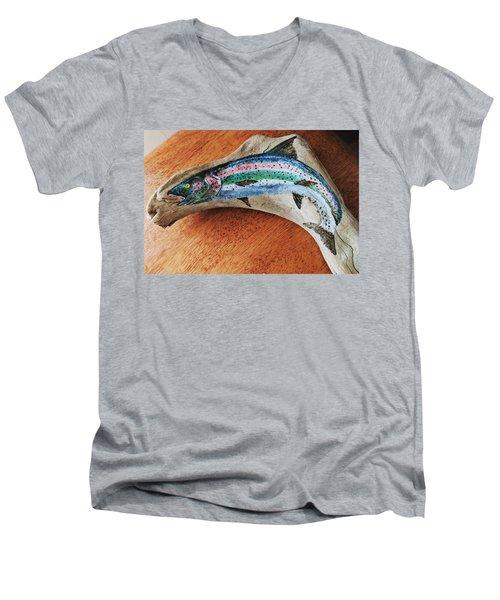 Rainbow Trout #1 Men's V-Neck T-Shirt