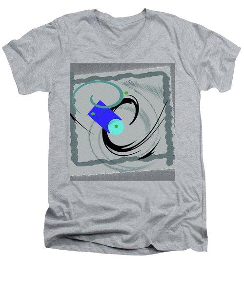 Randomness Variations 5, On Paper Montage Men's V-Neck T-Shirt