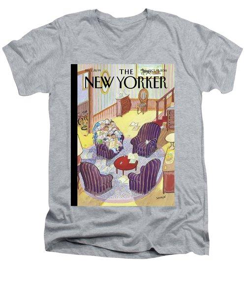 Reading Group Men's V-Neck T-Shirt