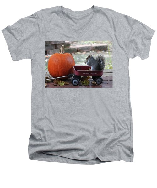 Ready To Ride My Little Red Wagon Men's V-Neck T-Shirt