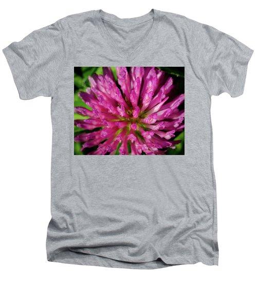 Red Clover Flower Men's V-Neck T-Shirt