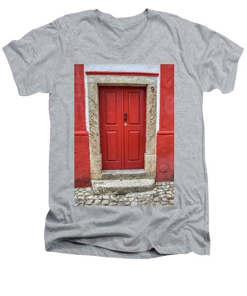 Red Door Nine Of Obidos Men's V-Neck T-Shirt