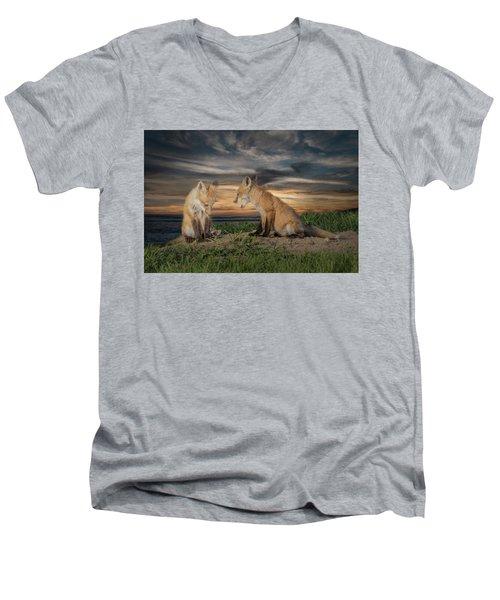 Red Fox Kits - Past Curfew Men's V-Neck T-Shirt