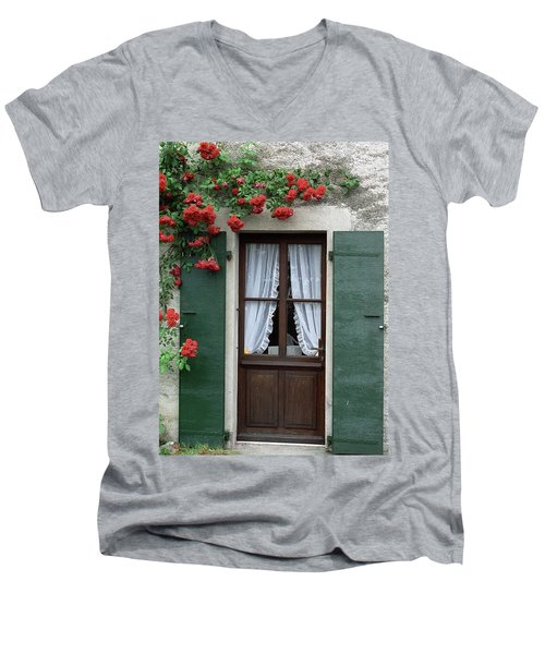 Red Rose Door Men's V-Neck T-Shirt