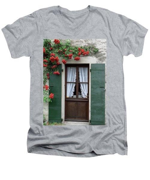 Red Rose Door Men's V-Neck T-Shirt