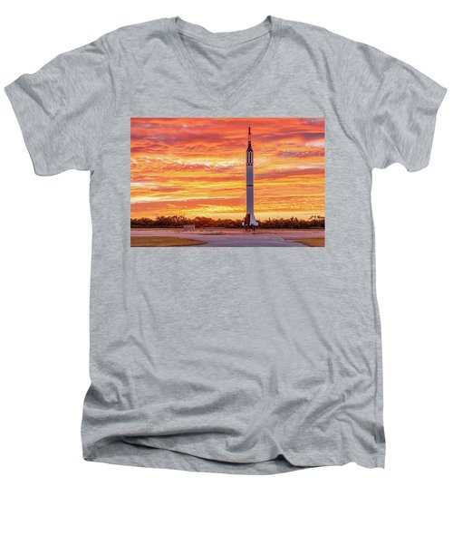 Redstone At Dawn Men's V-Neck T-Shirt