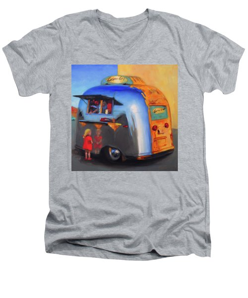 Reflections On An Airstream Men's V-Neck T-Shirt