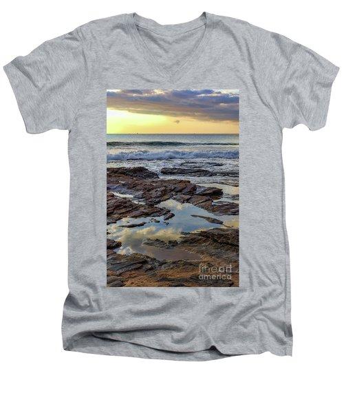 Reflections On The Rocks Men's V-Neck T-Shirt