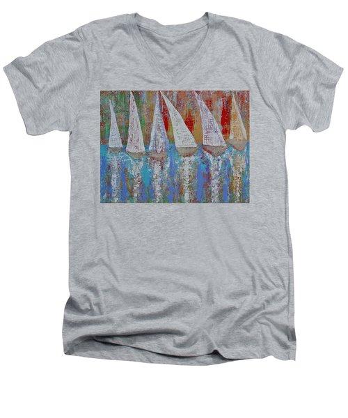 Regatta Original Painting Men's V-Neck T-Shirt