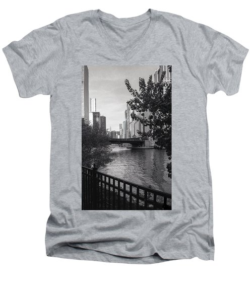 River Fence Men's V-Neck T-Shirt